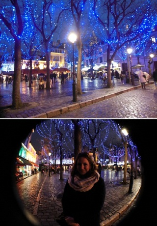 Montmartre at night